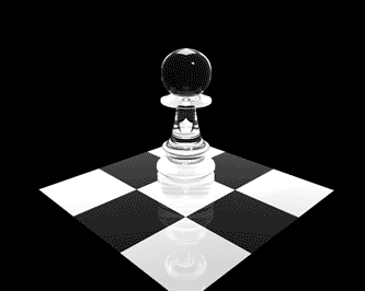 Chess Pawn. Pion transparent en acrylique