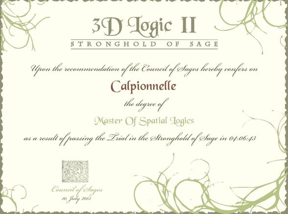 3d Logic dipôme quand termine le jeu