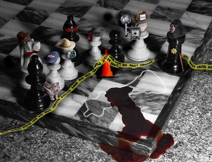 Checkmate, scène de crime aux échecs, le roi est mort