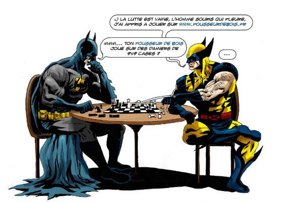 Batman Wolverine échecs comics bd