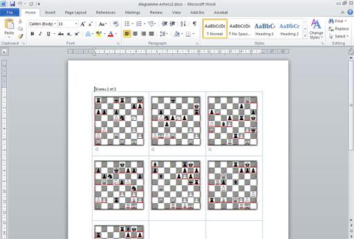 Créer des diagrammes d'échecs