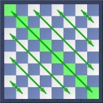 Diagonales blanches a8-h1 d'un jeu d'échecs
