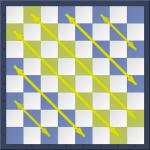 Diagonales noires a7-g1 et b8-h2 d'un jeu d'échecs