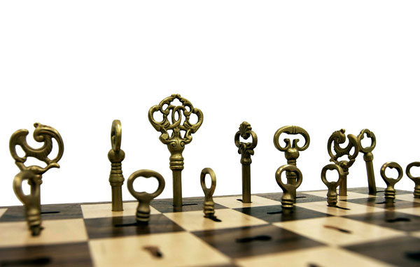 jeu d'échecs clefs de Dave Pickett