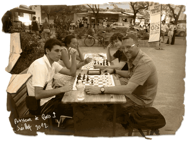 Partie d'échecs à Lyon - Place Ennemond Fousseret