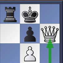 Mat de Damiano. Echec et mat (Baiser de la mort) avec pion en g6 et Dame h7
