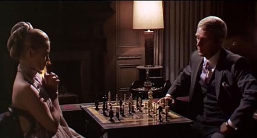 L'affaire Thmas Crown. La scène de La partie d'échecs. Avec   Steve McQueen et Faye Dunaway