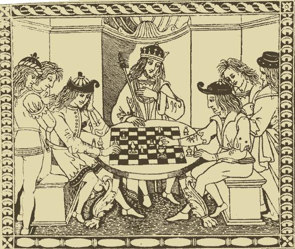 Ruy Lopez attablé - XVe siècle