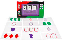 Set! jeu de cartes avec des symboles - discrimination visuelle