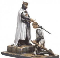 Adoubement d'un chevalier, figurine. I adjust (J'adoube)