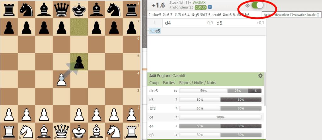 Analyser une position d'échecs