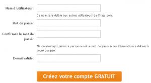 Chess.com, créer un compte
