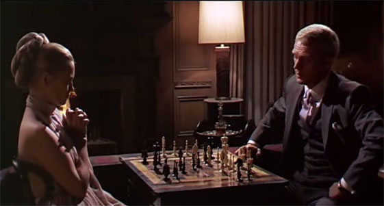 chess, love and romance. L'Affaire Thomas Crown : La partie d'échecs.