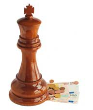 Jeu d'échecs argent chess money