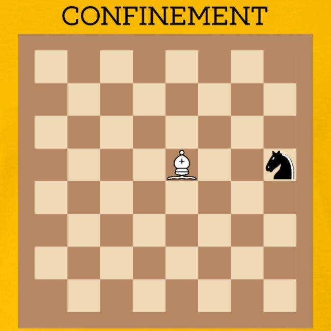 Tshirt covid jeu d'échecs