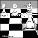 Déplacement du Roi en overboard