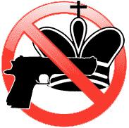 échec au roi interdit revolver pistolet pointé vers pièce d'échecs panneau rouge interdiction