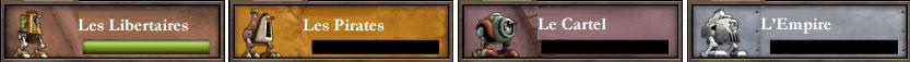 Les 4 factions du jeu greed corp