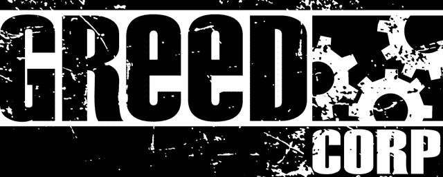 Greed Corp logo en noir et blanc