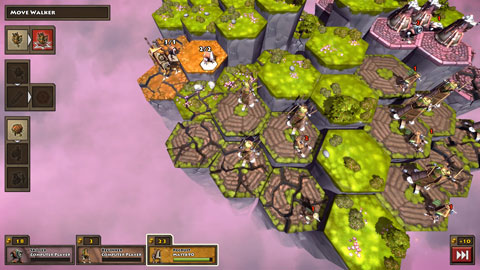 screen shot du jeu greed corp tuiles vertes