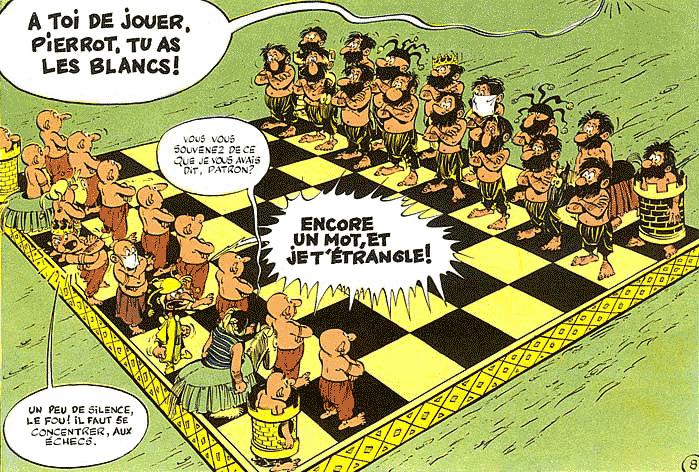 Iznogood - Rene Goscinny jeu d'échecs