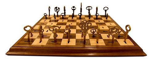 échiquer, jeu d'échecs avec des clés  Passe-Partout de Dave Pickett clefs