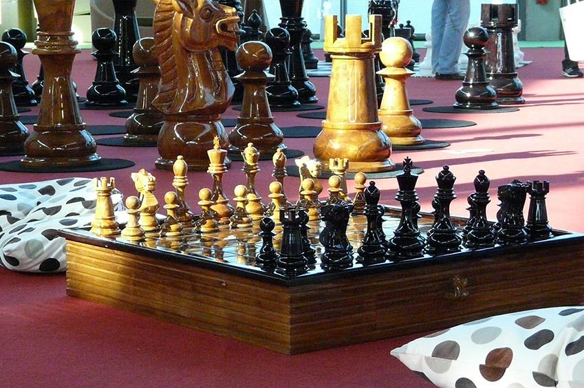 Jeu d'échecs géant