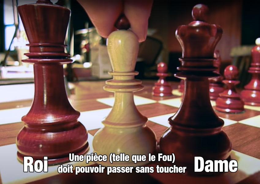 Jeu d'échecs : Test des trois pièces