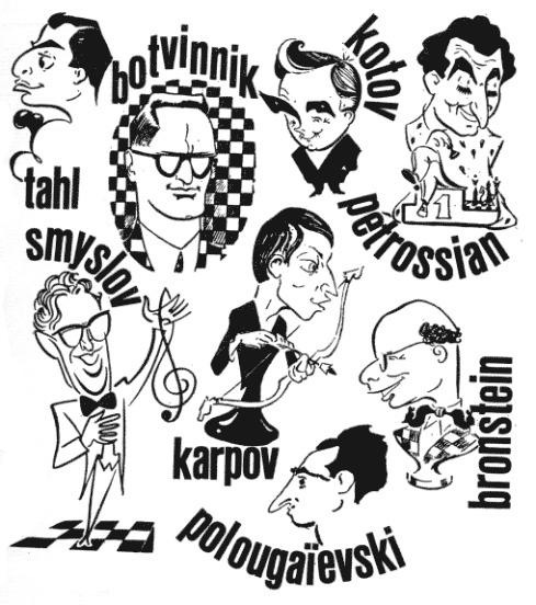 Caricatures grands maîtres russes