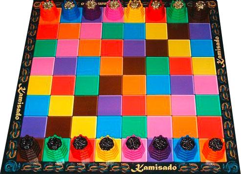 Kamisado plateau de jeu echiquier coloré