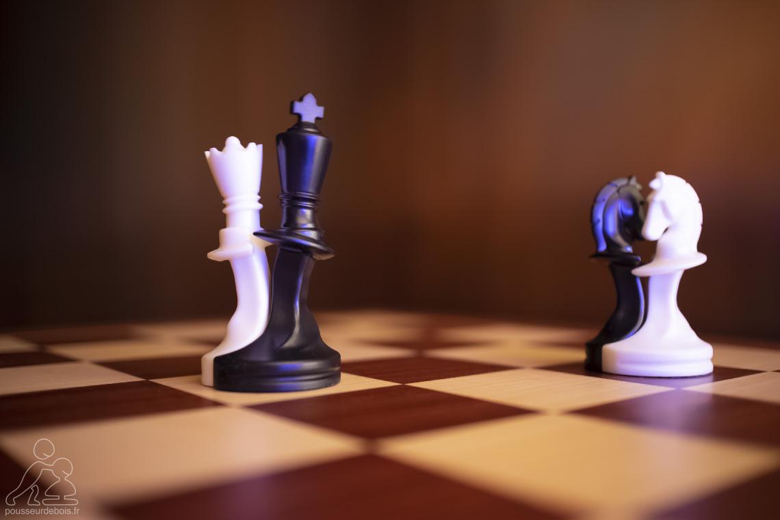 Paco Sako : Le bal. Pièces d'échecs qui dansent