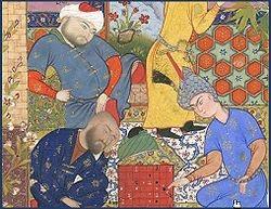 L'invention du jeu d'Echecs est le cadre d'une célèbre légende. Environ 3000 ans avant JC, en Inde, le Roi Belkib, morose, offrit une forte récompense à quiconque lui offrirait une distraction exceptionnelle. Un certain Sissa lui proposa un nouveau Jeu - les Echecs. Belkib, enthousiaste, demanda alors à Sissa ce qu'il souhaitait en tant que prix de sa trouvaille. Sissa lui proposa de disposer 1 grain de riz sur la première case de l'échiquier, 2 sur la seconde, 4 sur la troisième, 8 sur la quatrième, 16 sur la cinquième, et ainis de suite jusqu'à la 64ème case. Sa récompense serait le total des grains de blé ainsi répartis.  Belkib accepta d'abord avec insouciance - mais ne put honorer sa promesse. Le total des grains était en effet de 18 446 744 073 709 551 615 - soit près de 400000000000 tonnes de riz. Certaines variantes de la légende rapportent que Belkib - une fois la réalité de la demande bien comprise - fit décapiter Sissa pour son insolence. D'autres, moins cruelles, affirment que le Roi accepta à condition que Sissa compte au préalable les grains pour vérifier l'exactitude de leur nombre.   Quoi qu'il en fût du sort de Sissa, sauriez-vous expliquer pourquoi le nombre de grains était de 264-1?  Plus généralement, sauriez-vous expliquer pourquoi pour tout réel q et tout entier n:  1+q+q2+q3+q4+....+qn=(1-qn+1)/(1-q)